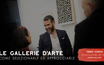 L'ARTISTA E LE GALLERIE D'ARTE (VIDEOCORSO)